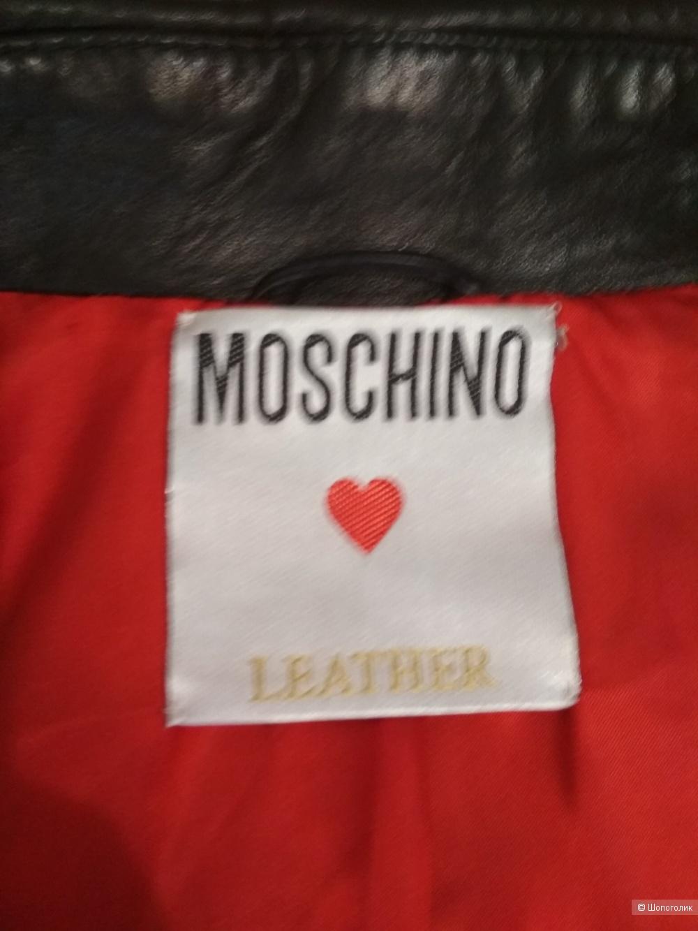 Кожаная куртка Moschino, размер М..