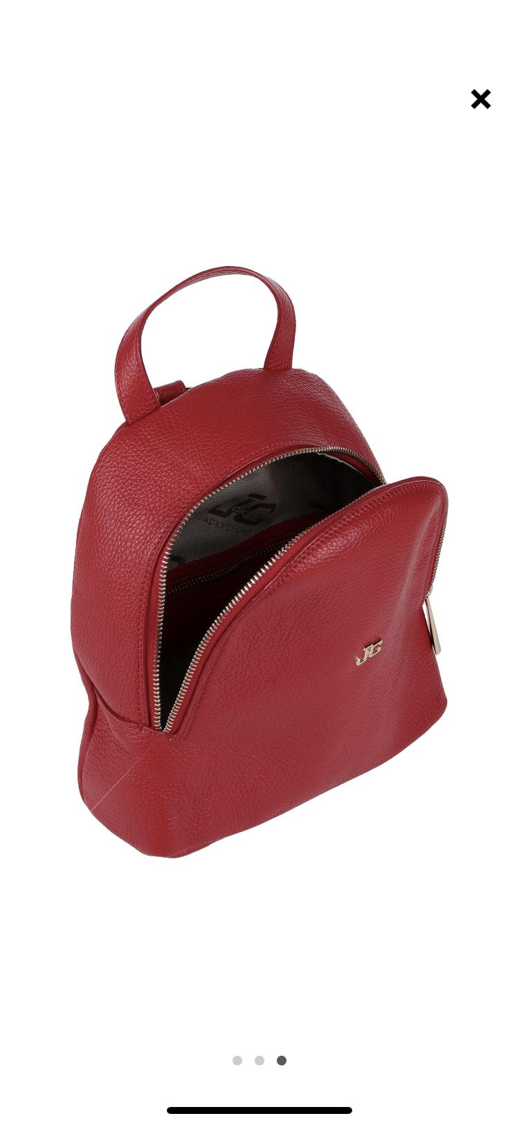 Кожаный рюкзак J&C JACKYCELINE 22 см х 23 см