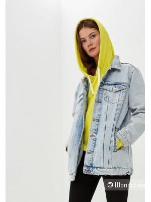 Удлиненная джинсовая куртка mango, размер M-L