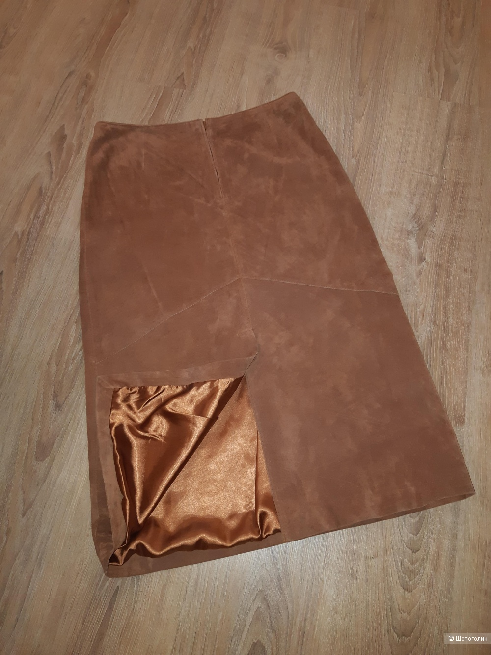 Замшевая юбка-карандаш hirsch, размер 48/50