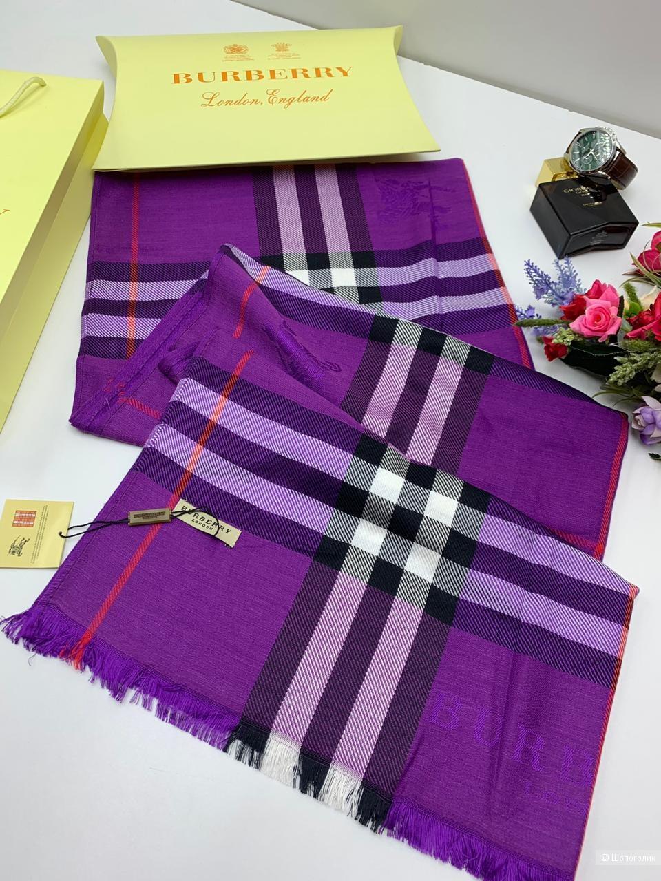 Палантин Burberry классический (фиолетовый)