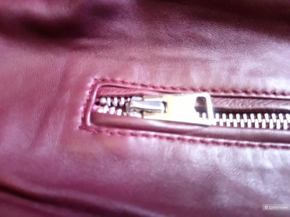 Кожаная куртка- косуха, mango, размер  М