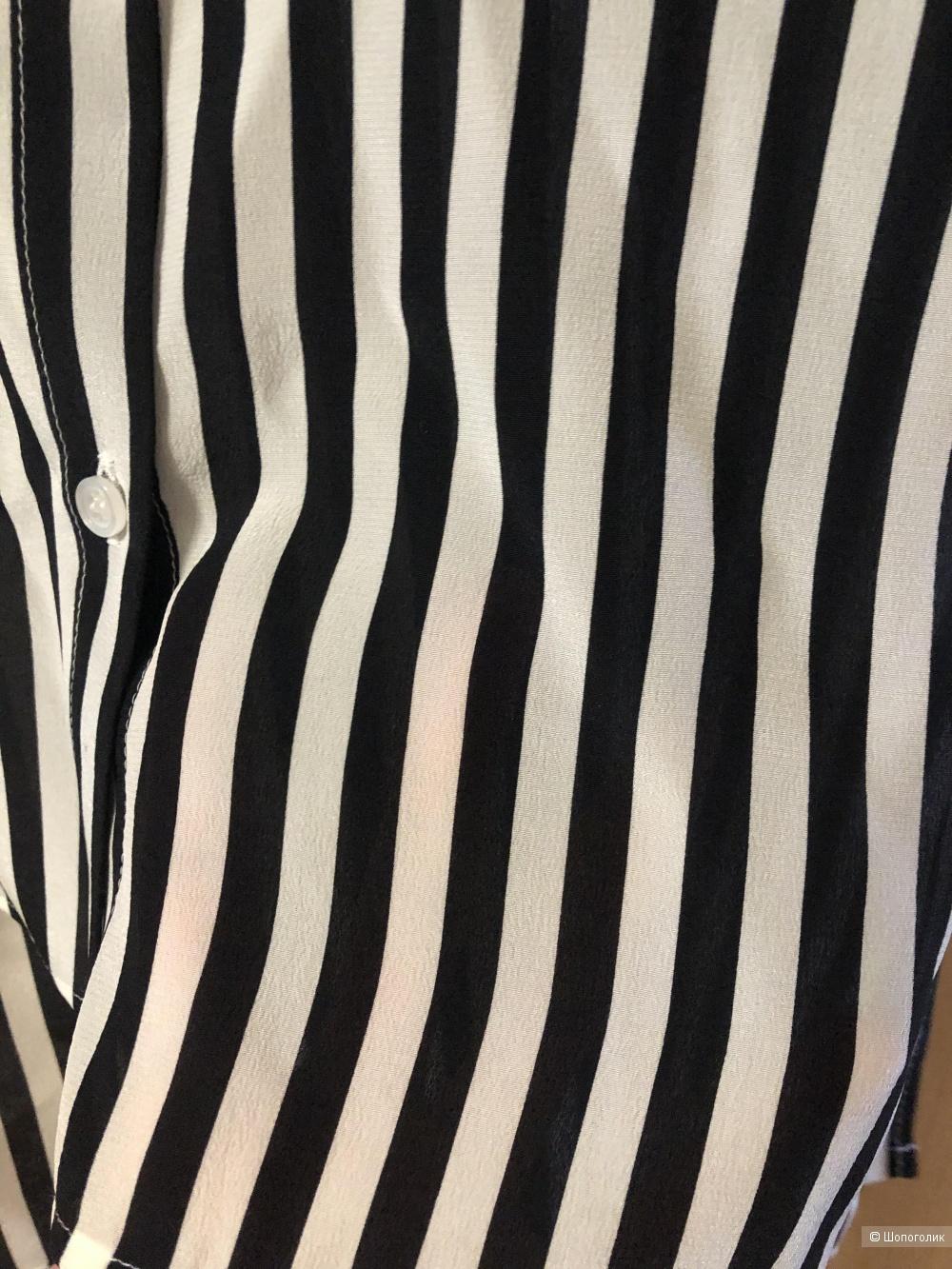 Шелковая рубашка  аутлет MaxMara, размер S/M.