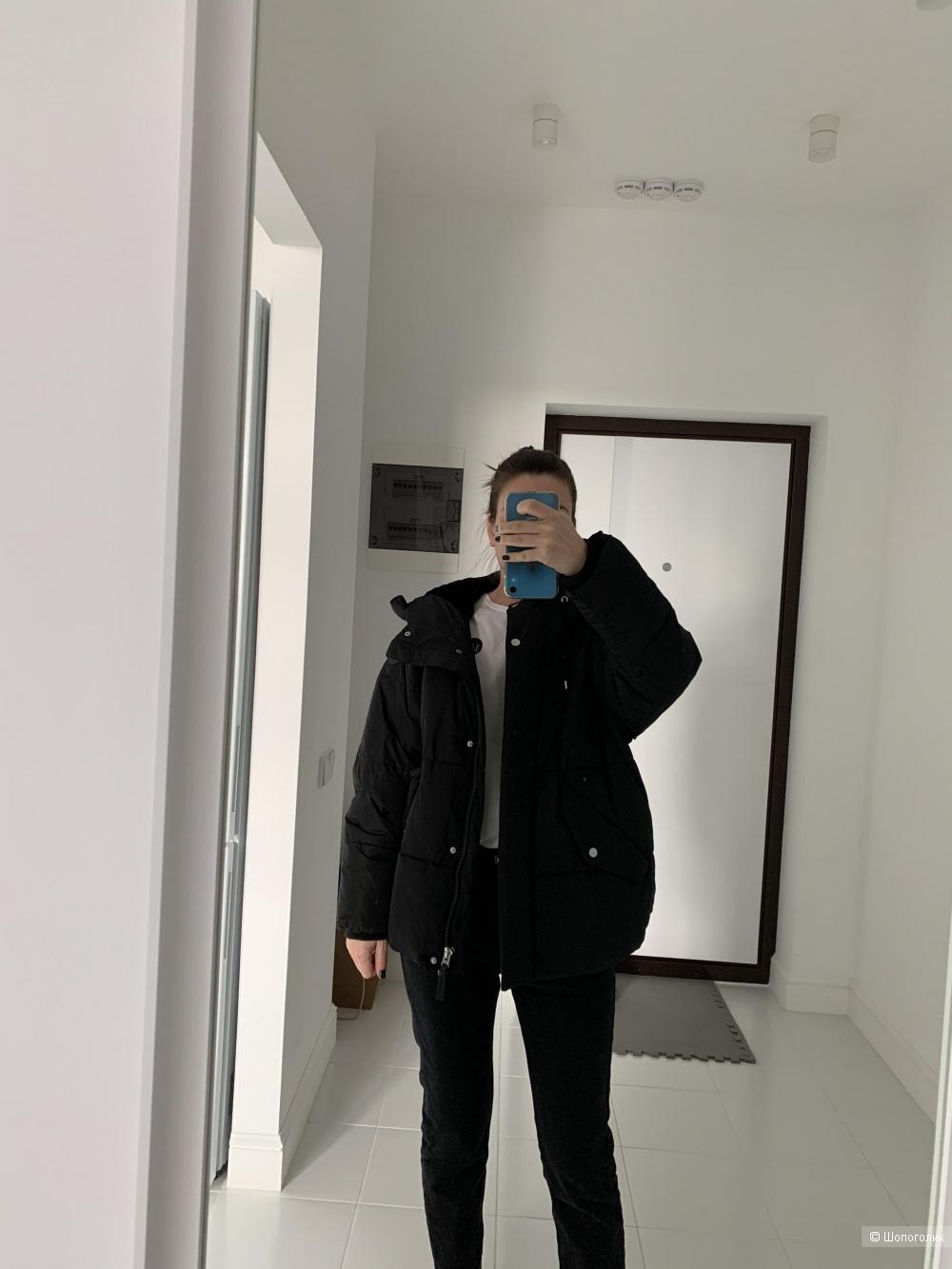 Модная демисезонная куртка DKNY размер M, S-Oversize