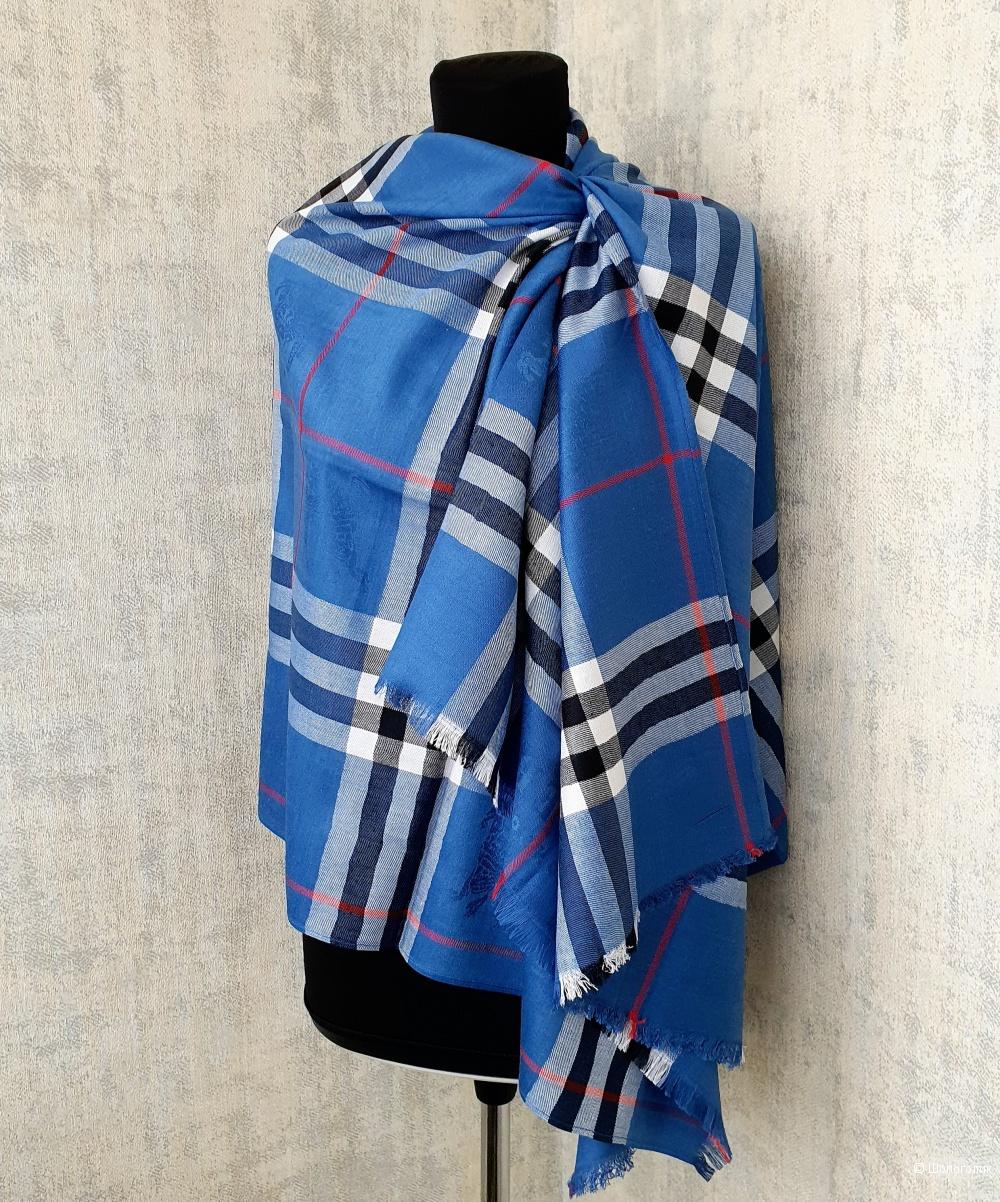 Палантин Burberry классический (джинсовый синий)