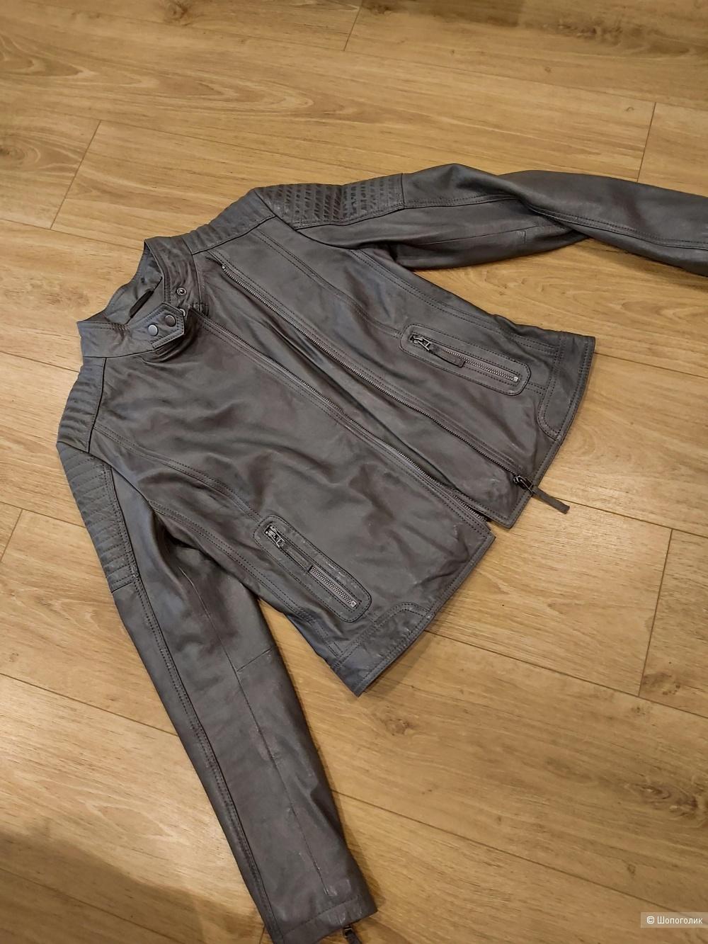 Кожаная куртка, no name, 42-44 размер