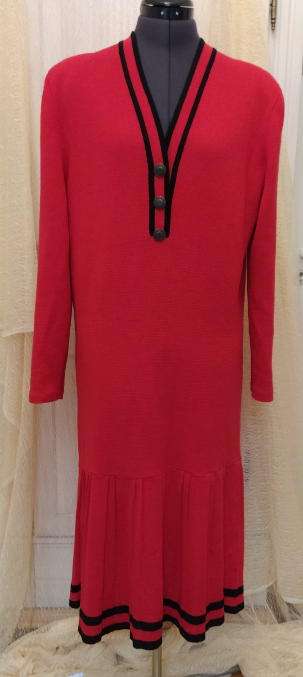 Платье Lianfa Series Wool Fabric, XL,plus size.