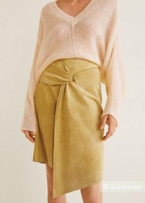 Кожаная юбка на запАх mango, размер M