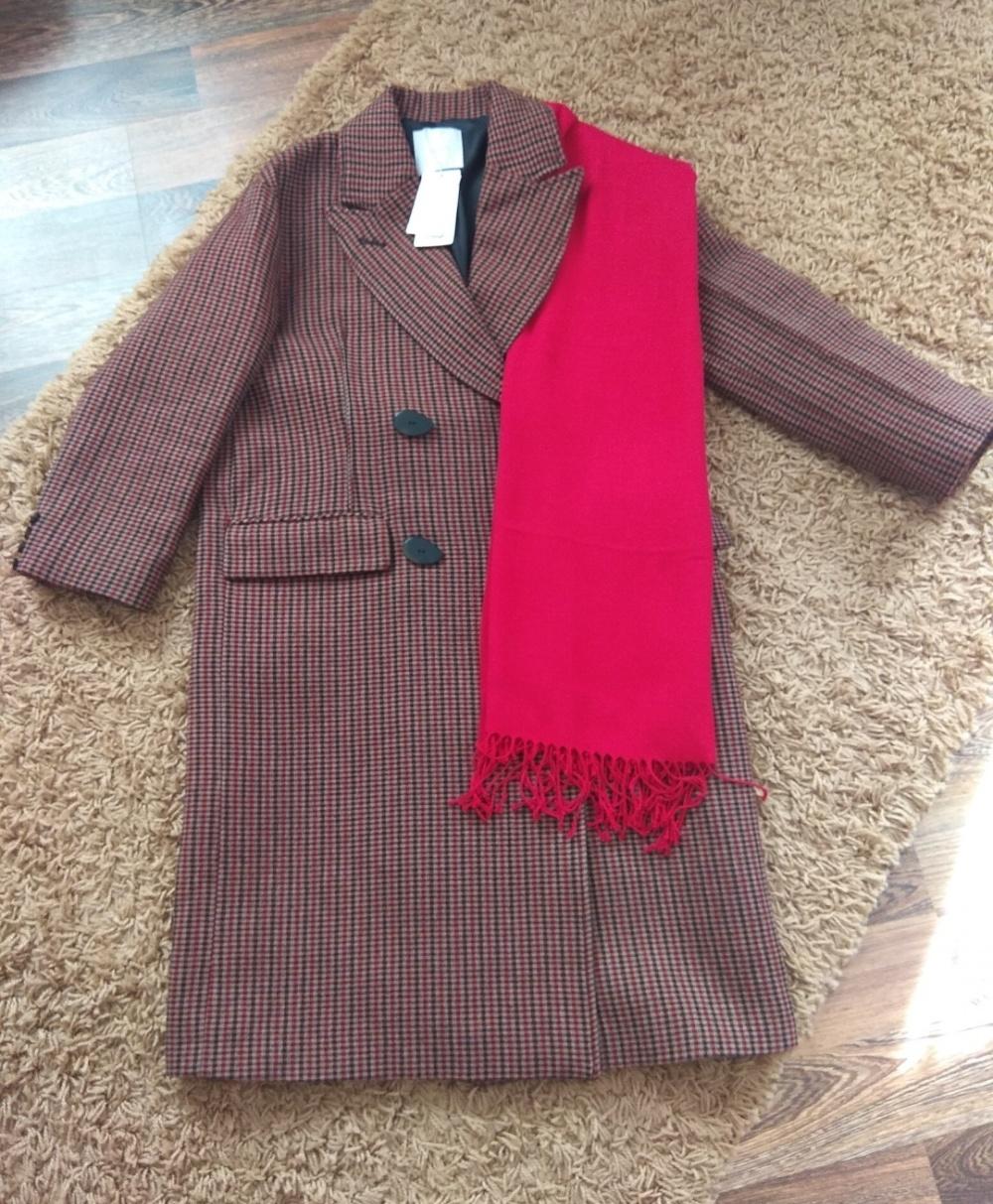 Комплект пальто + палантин Mango no name  размер s