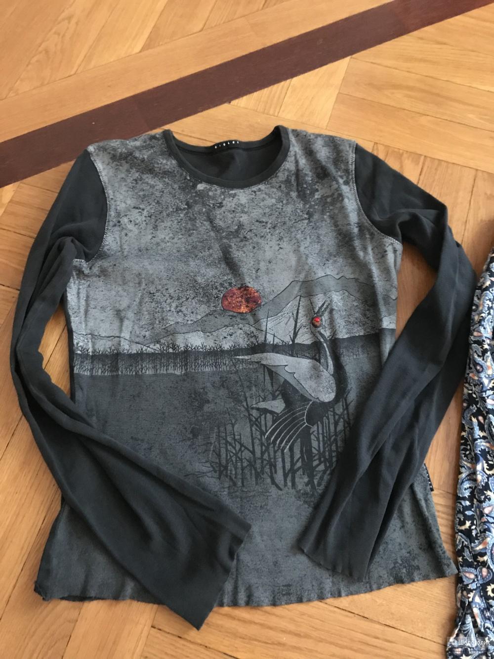 Комплект платье Oggi,рубашка Concept Club,кофта Sisley,44рус