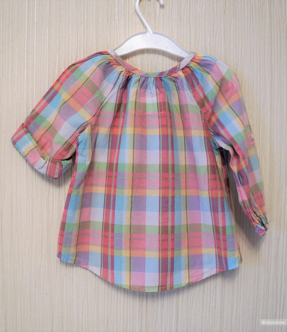 Платье и шапочка-косынка H&M размер 9-12 мес