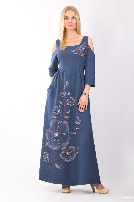 Платье льняное Polinushka (Беларусь), размер 48-52