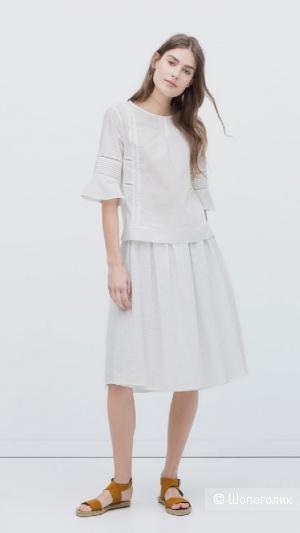 Льняная юбка h&m, размер 46+