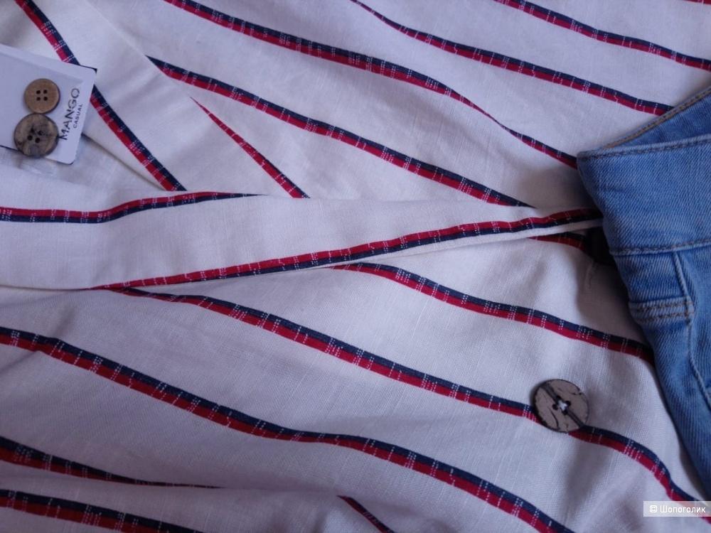 Льняной пиджак mango, размер L