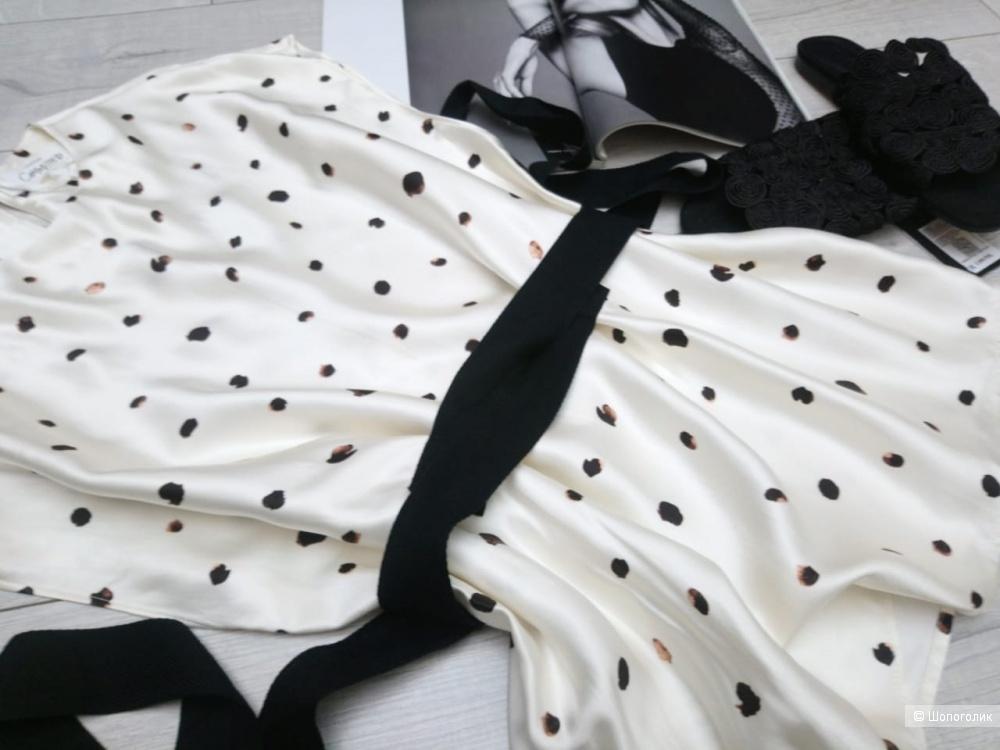 Блуза с поясом COMMITTED mango, размер M
