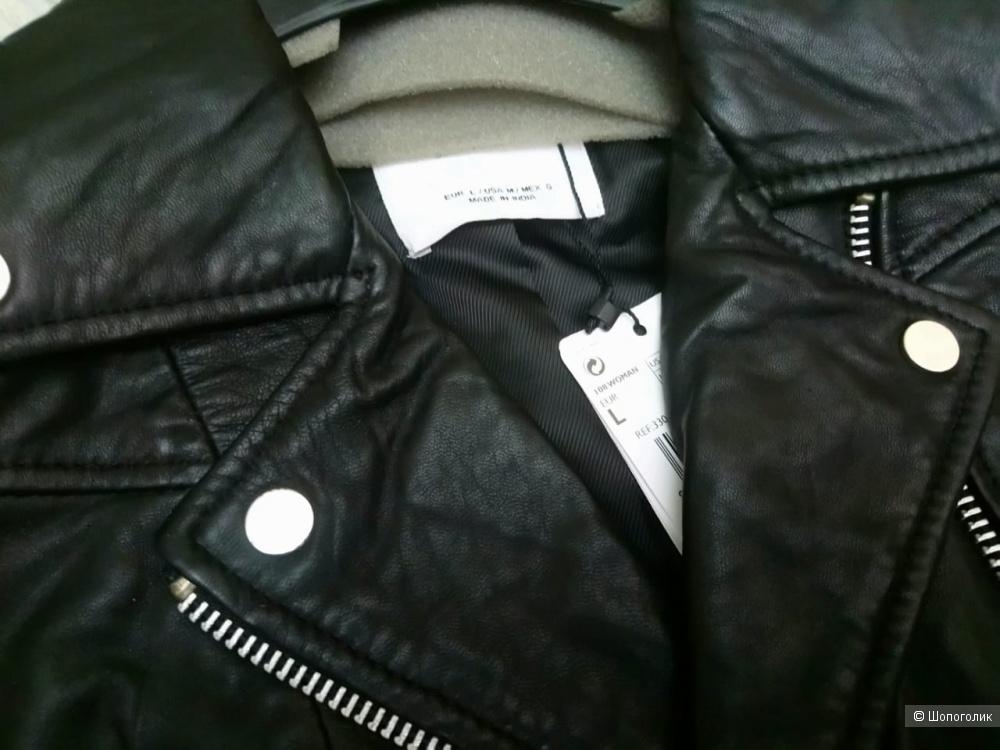 Кожаная куртка- косуха mango, размер L