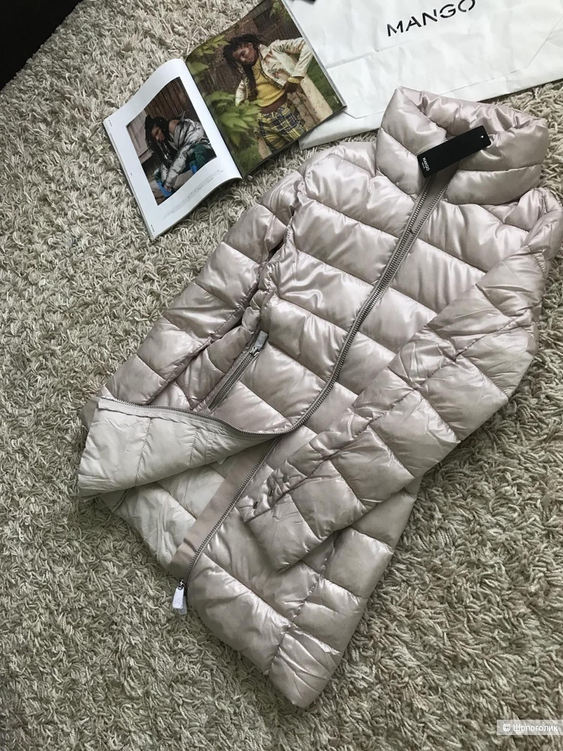 Стеганое пальто mango, размер S