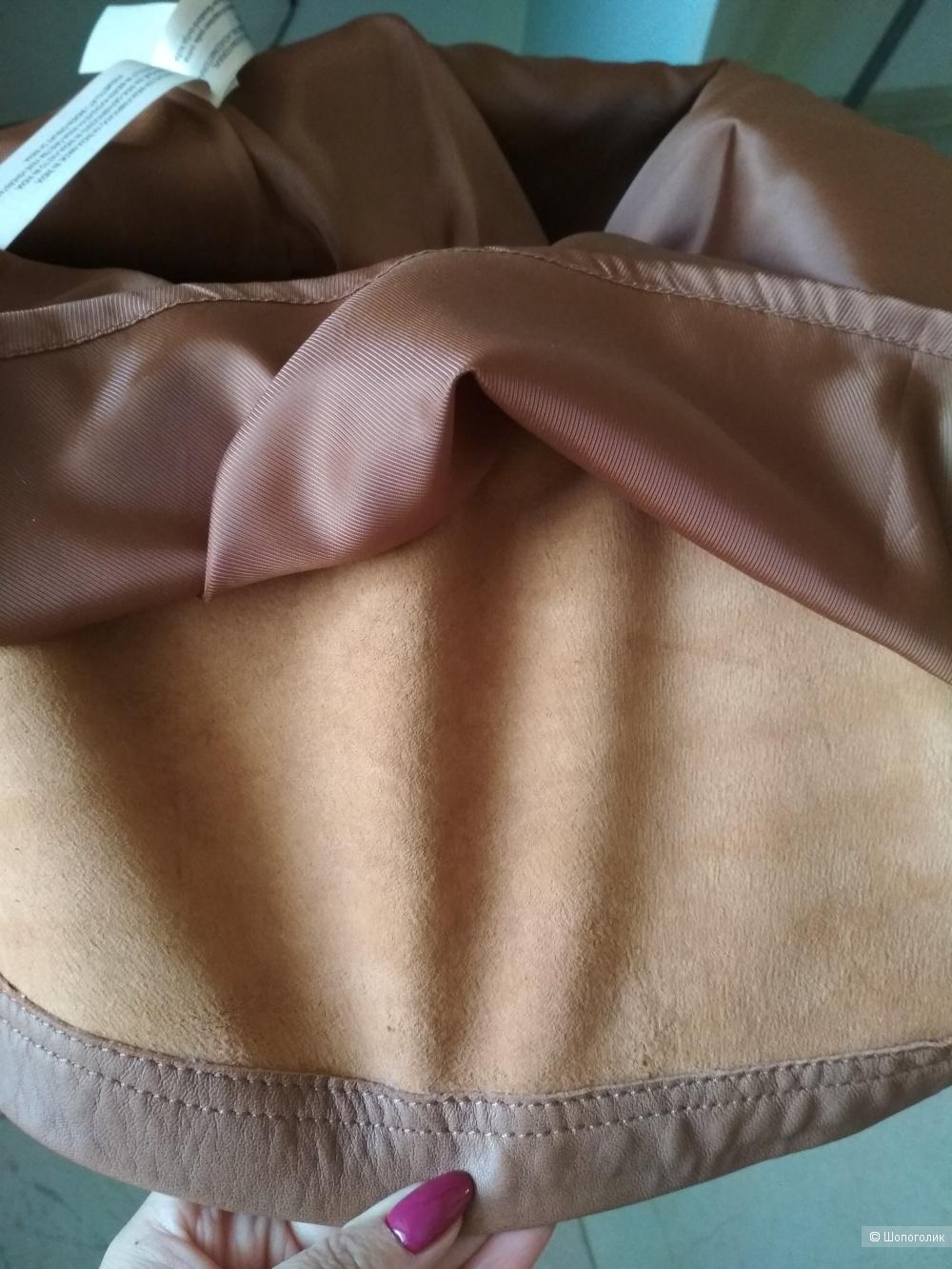Кожаная юбка Massimo Dutti, р.46