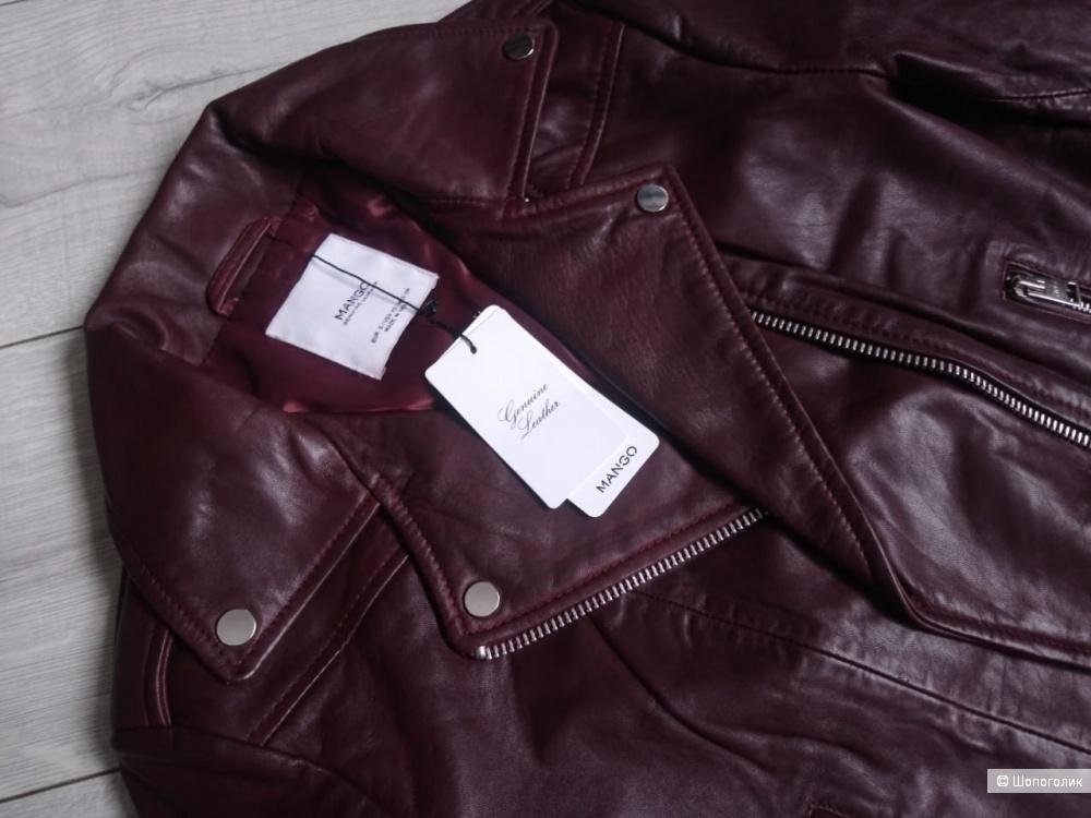 Кожаная куртка- косуха mango, размер S