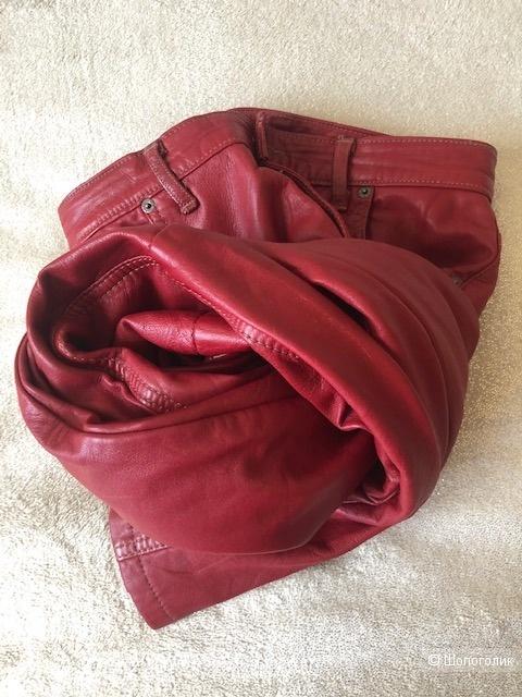 Кожаные брюки W2W suide(28jeans sise),42-44