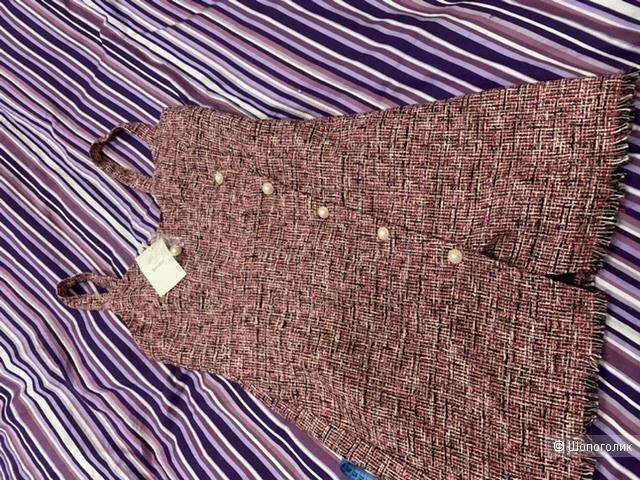 Твидовое платье сарафан Bershka 44-46
