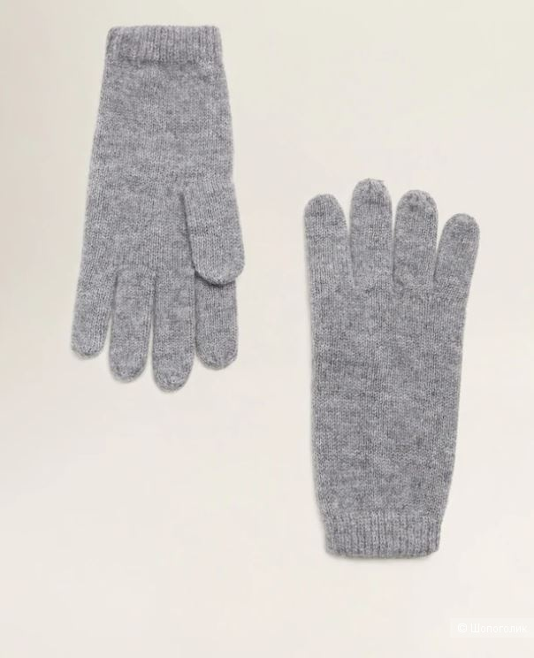 Кашемировый комплект- шапочка и перчатки mango, one size