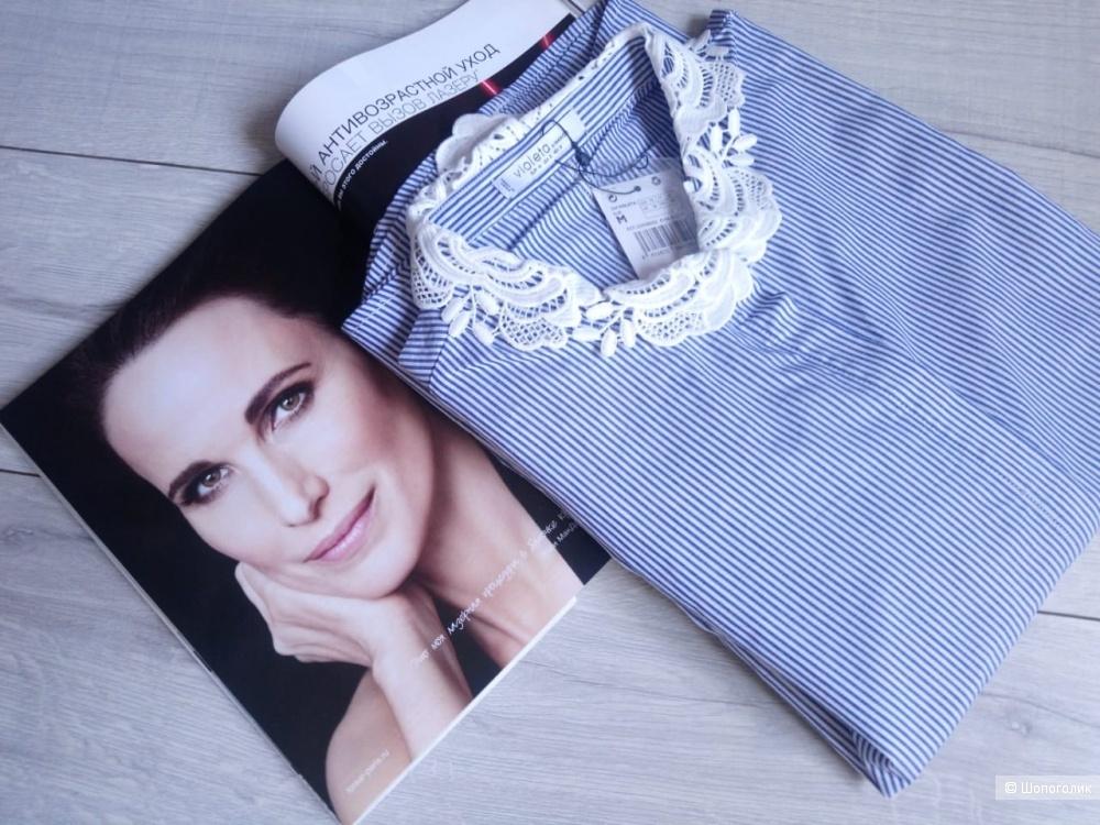 Хлопковая рубашка Violeta by mango, росс. 48-50-52