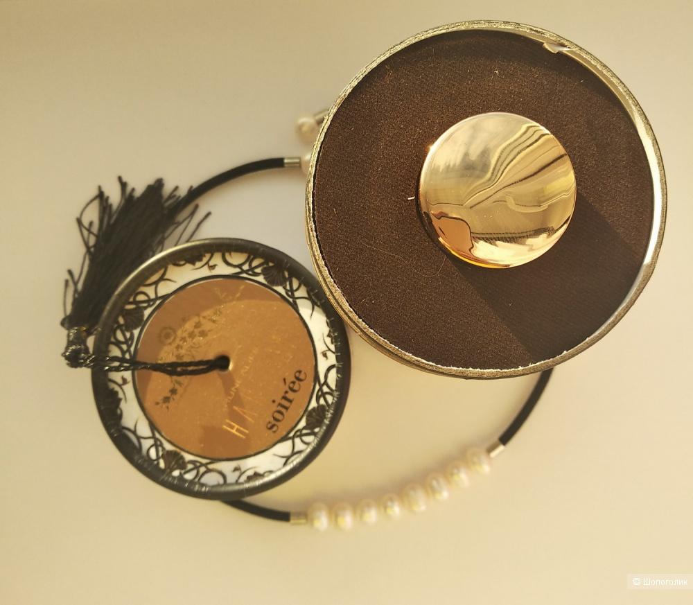 Комплект украшений с натуральным жемчугом - колье и браслет