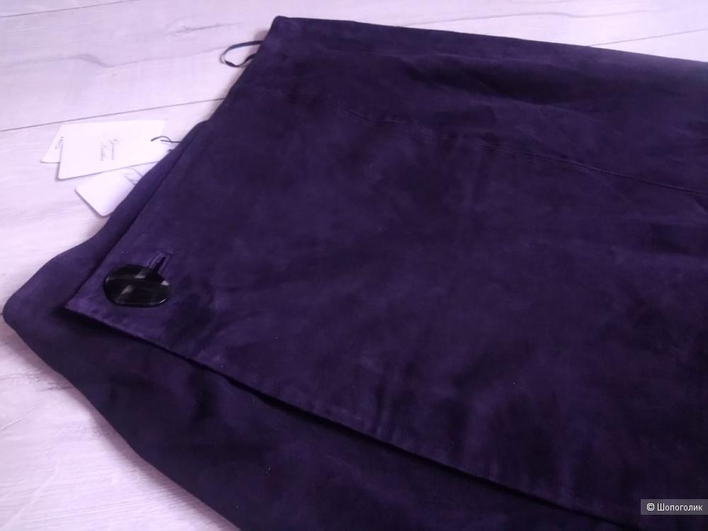 Кожаная юбка- карандаш на запАх mango, размер S/M