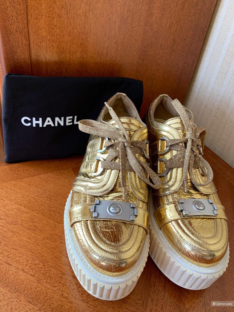 Сникерсы CHANEL Chanel Boy Creepers Resort, размер 38