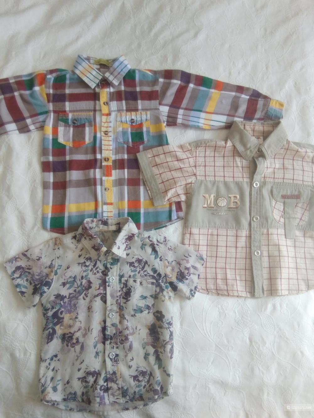 Сэт из 3 рубашек на мальчика с 1-4 лет