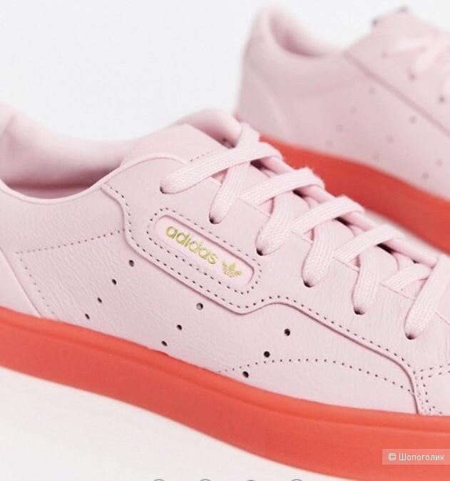 Кожаные кеды/ кроссовки Adidas Originals Sleek размер 38