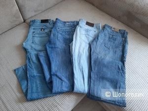 Пакет мужских джинс, мультибренд, размер 52-54
