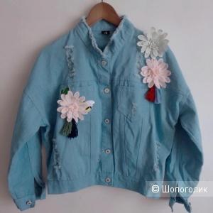 Куртка джинсовая FLOWER, 42-46