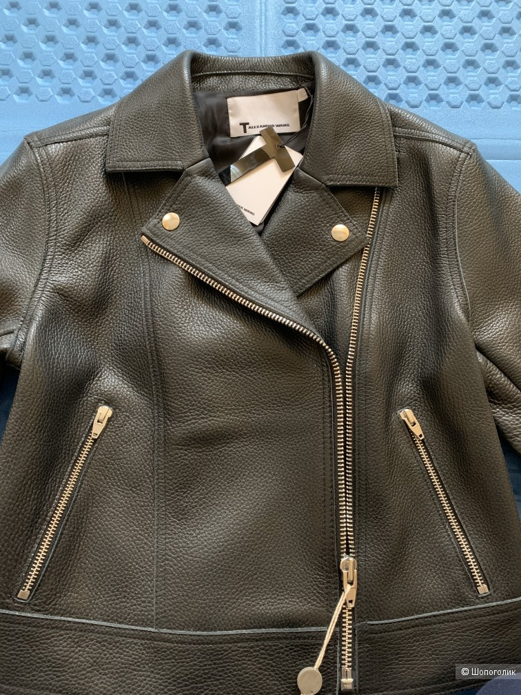 Кожаная куртка  T by Alexander Wang, US 6