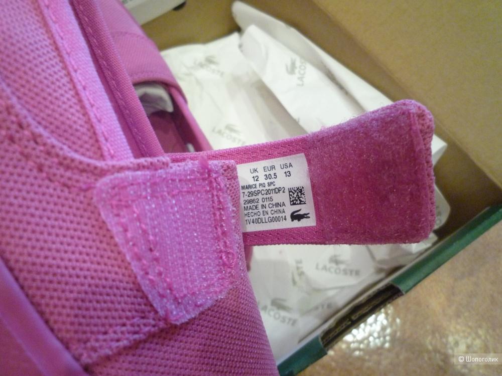 Летние тапочки Lacoste 30,5 размер