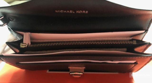 Клатч MICHAEL MICHAEL KORS. Manhattan Large Viola Leather