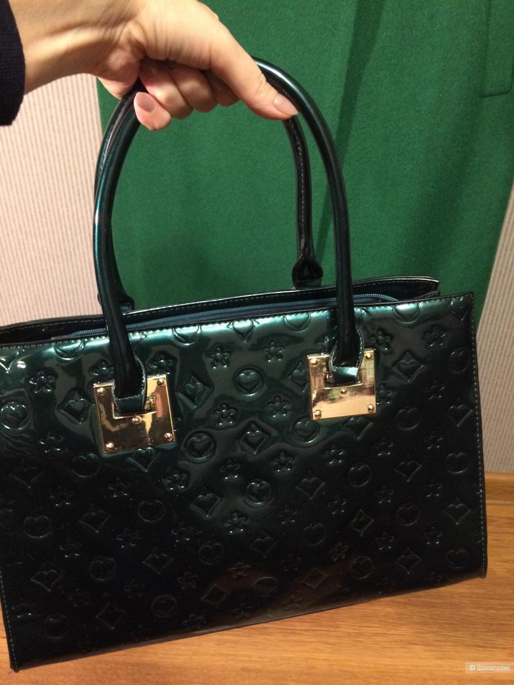 Лаковая сумка Maria C. 37х26