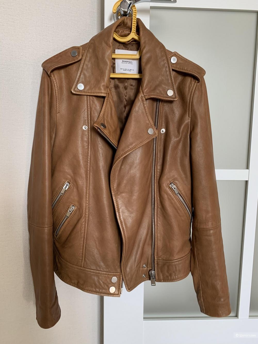 Кожаная куртка Mango, S