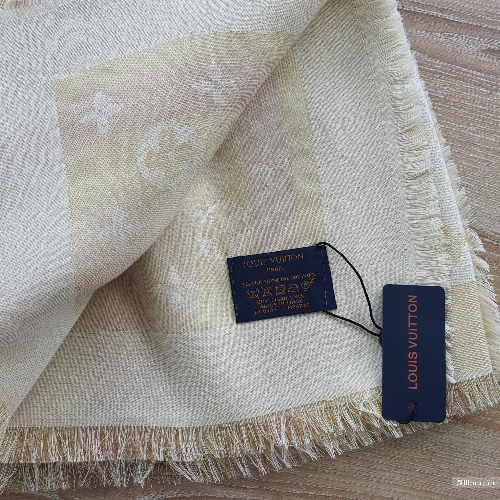 Платок (шаль) Louis Vuitton с люрексом бежевый
