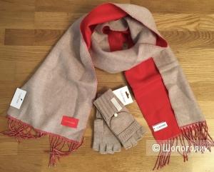 Сет: шарф и перчатки Calvin Klein, one size