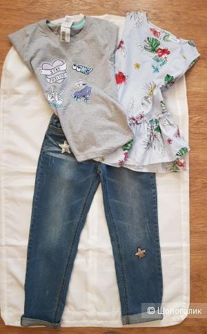 Сет футболка Infinity kids+ топ AKoola+ джинсы Acoola, 140-152 см