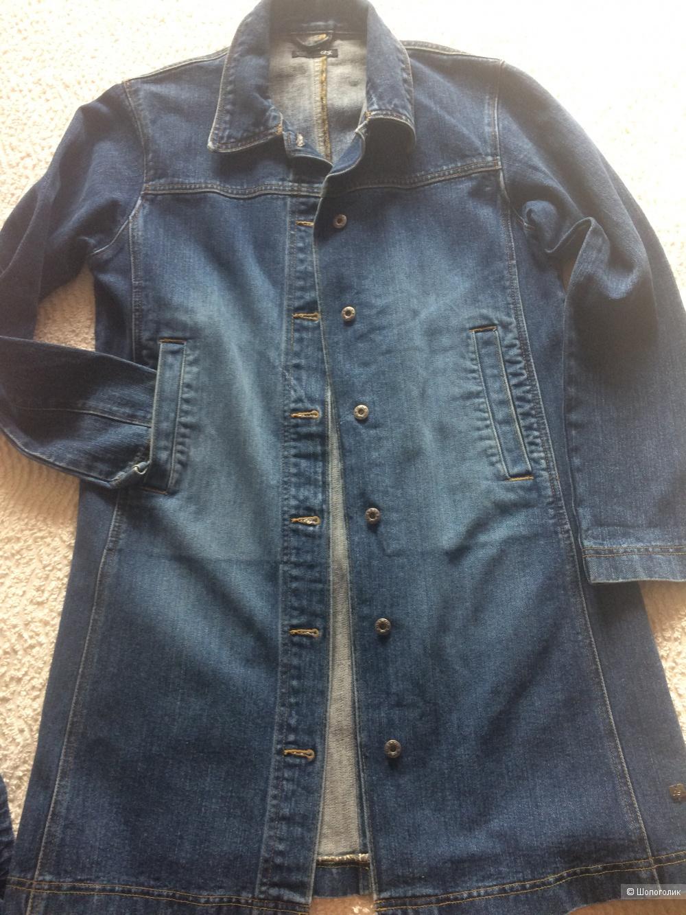 Джинсовое пальто QS размер L.