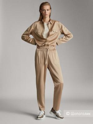 Трикотажные брюки-джоггеры от Massimo Dutti в размере М