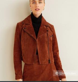Кожаная куртка косуха от mango размер М