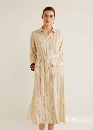 Платье-рубашка в полоску, размер М