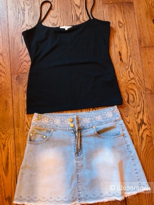 Комплект юбка джинса+топ Easy Wear- 44-46 размер