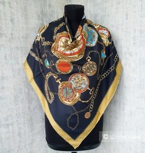 Платок Hermès шёлк (черный)