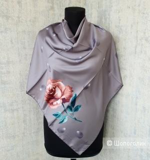 Платок Valentino шелк серый
