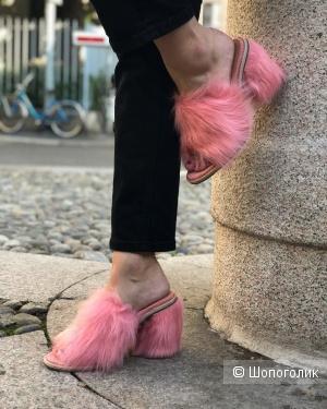 Мюли UGG Rosa Fluff Heel. Размер: 36
